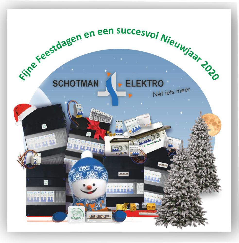 Kerstgroet en nieuwjaarwens Schotman Elektro